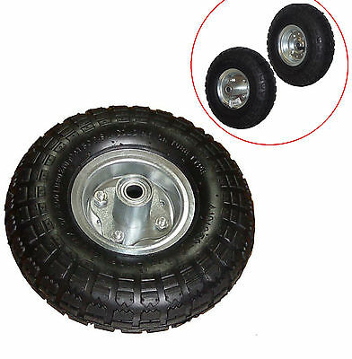 "2 NEW 10"" AIR Tires Wheels 5/8"" Bearing for Dlly/ Go Cart/ Golf Cart/ Tricycle"