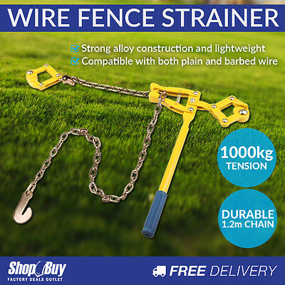 Wire Fencing Strainer Fence Tightener Plain Barbed Chain Tensioner Tool
