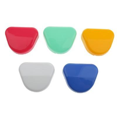 5pcs Mixed Dental Retainer Orthodontic Mouthguard Denture Storage Cases Box
