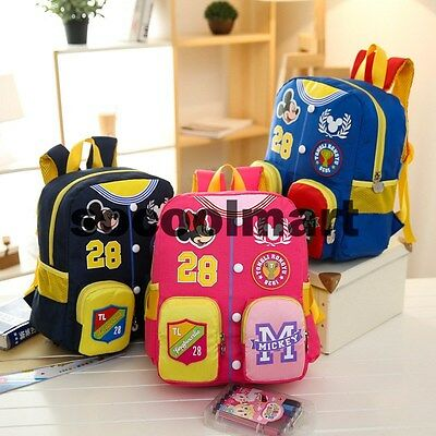 Cute Mickey Baby Children Girls Boys Backpacks Kids Cartoon Bookbag School Bag