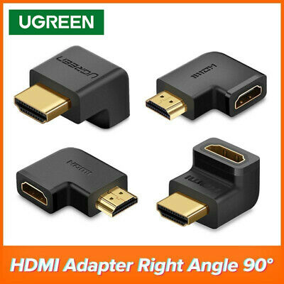 Ugreen 90 270 Degree Right Angle Angled HDMI Adapter Connector Male to Female