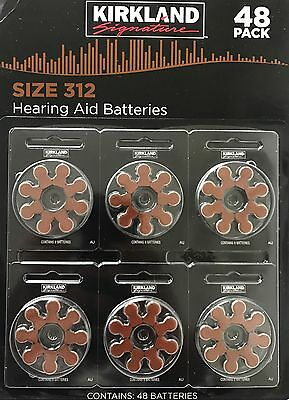 New Kirkland Signature hearing aid batteries Size 312 USA Made **Free Postage**