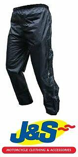 Roxter Waterproof Over Trousers Motorcycle Motorbike Pants Scooter New Black J&s