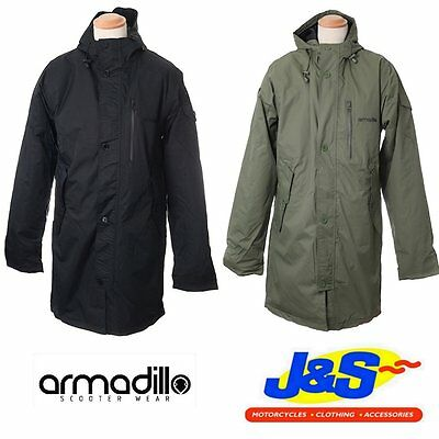Armadillo Parka Scooter Motorcycle Motorbike Mod City Waterproof Mens Jacket