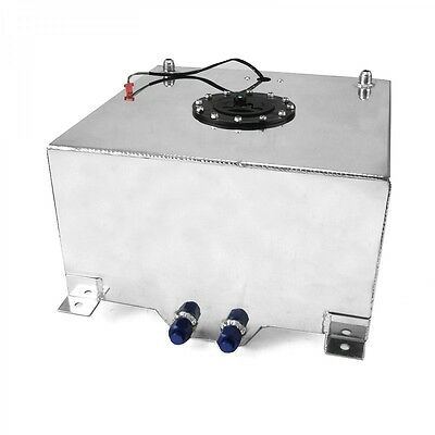 Polished Aluminum 20 Gallon Fuel Cell W/ 0-90 ohm Sender Street Strip Drift