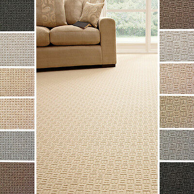 Modern New Quality 14 Colours Felt Loop Carpet  - Lounge, Bedroom - Cheap - 4m