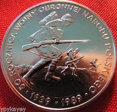 Poland 500 zl 50th Anniversary of World War II Mauser Rifle Infantry Soldiers
