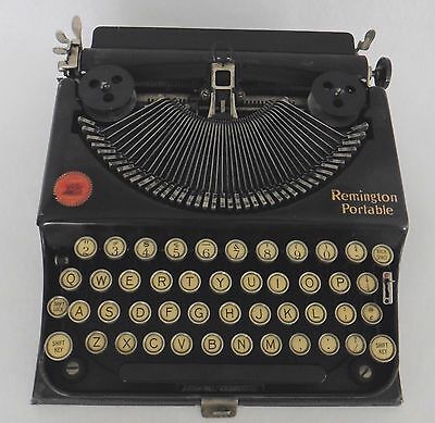 REDUCED - Antique Remington Portable Typewriter with Case 1920s
