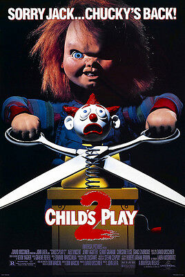 Home Wall Art Print - Vintage Movie Film Poster - CHILDS PLAY 2 - A4,A3,A2,A1