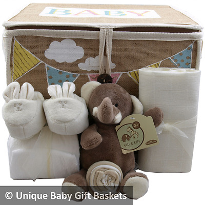 Baby gift basket/hamper unisex nappy cake baby shower new baby/maternity gift