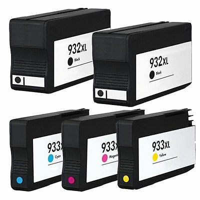 5 Non-Oem 932Xl 933Xl Ink Cartridges Hp Officejet 6100 6600 6700 7110 7610 7612