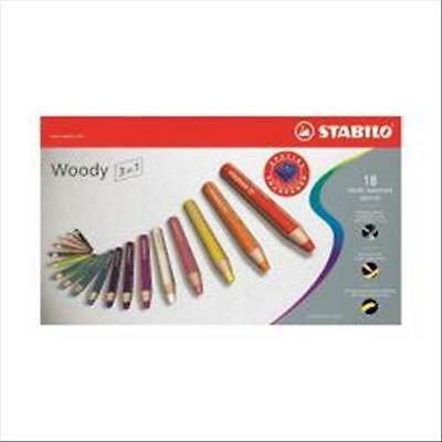 Cf18 Stabilo Woody 3In1 Colori Ass