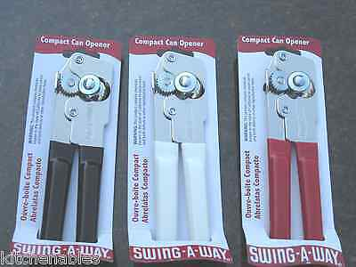 Swing-A-Way Compact Can Opener - Consumer Favorite - Black, White Or Red