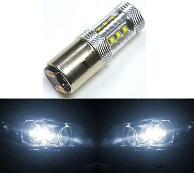CREE LED 80W BA20d WHITE 5000K ONE BULB HEAD LIGHT LAMP FIT REPLACEMENT JDM SHOW