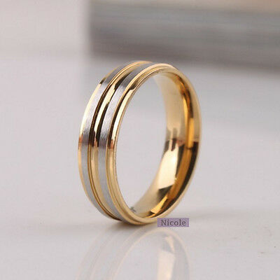 Solid TITANIUM Mens Double Stripe Comfort Fit Wedding Band Ring Size 8-11 RM17