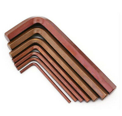 M1.5/2.0/2.5-M17 Metric Flat /Ball End Allen Wrench Hex Key L-Wrenches S2 Bronze