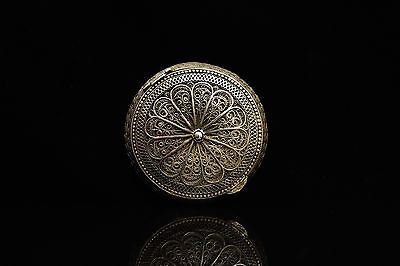 Antique Original Perfect Silver Hand Craft  Filigree Ottoman Box