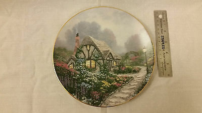 Collectible Plate Knowles Chandler's Cottage by Thomas Kinkade