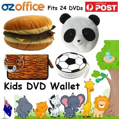 BRAND NEW Kids Novelty 20 24 CD DVD Wallet Folder Storage Box Movies Games Disc