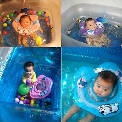 Adjustable Swimming Circle Inflatable Baby Neck Swim Ring Double Protection