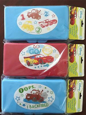 3 x Disney Cars Baby Wipes Travel Case Assorted Design