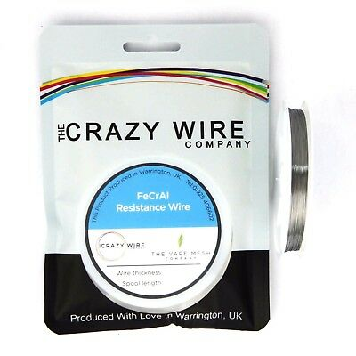 0.13mm (36 AWG) Comp FeCrAl A1 Wire - 107.87 ohms/m