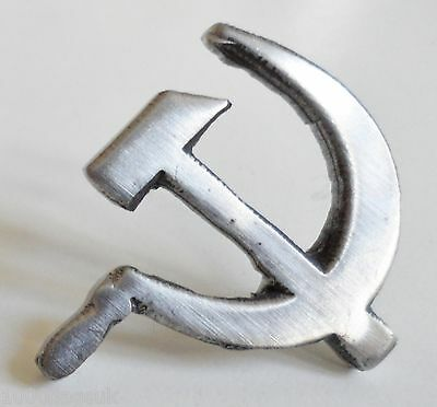 USSR Soviet Union Russia Hammer & Sickle Pin Badge - Hand Made in English Pewter