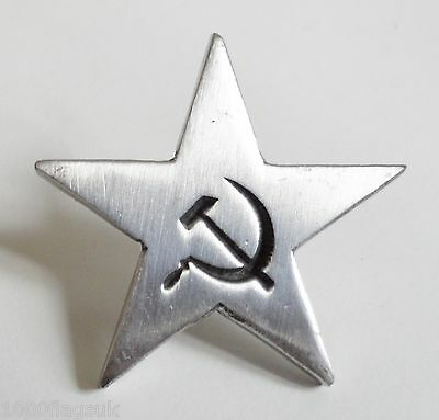 USSR Soviet Union Russia Communist Star Pin Badge - Hand Made in English Pewter