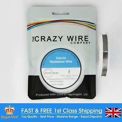 0.17mm (34 AWG) Comp FeCrAl A1 (Kanthal A1 Equiv) Wire - 62.57 ohms/m