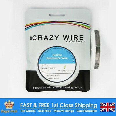 0.28mm (30 AWG) Comp FeCrAl A1 (Kanthal A1 Equiv) Wire - 22.75 ohms/m