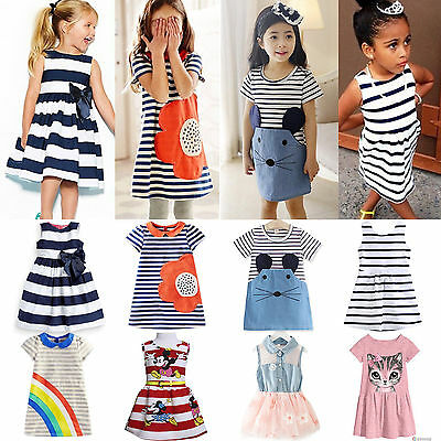 Various Toddler Kids Baby Girls Princess Dresses Party Tutu Skater Mini Skirts
