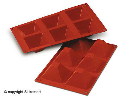 Pyramids 71X71 SF007 Baking and Dessert Silicone Mould by Silikomart