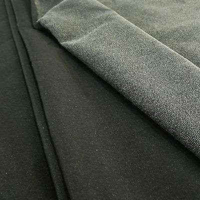 Black Lightweight Woven Cotton Fusible Iron On Interfacing - per metre or 50cm
