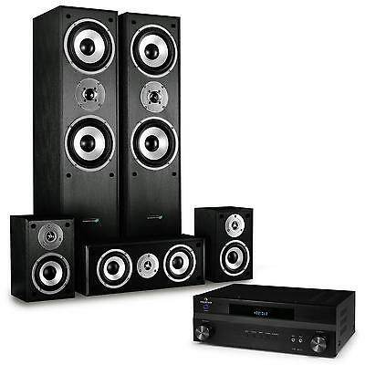 Sistema home theatre 5.1 1150W Casse Ricevitore HIFI Home Cinema Impianto Audio