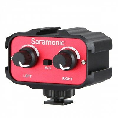 "Saramonic SRAX100 2 Channel 3.5mm (1/8"") Mixer Audio Adaptor Interface for DSLR"