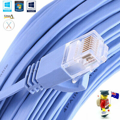 Premium Snagless Flat Network Cable RJ45 LAN Ethernet Cat6a 2x FAST