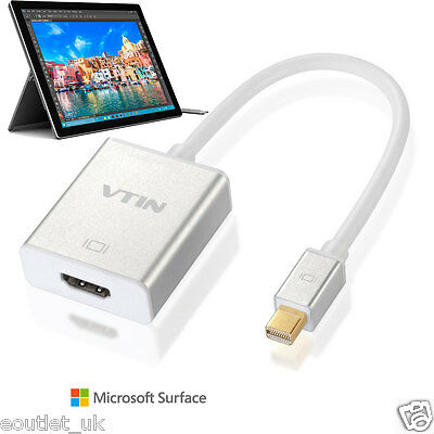 Mini DisplayPort to HDMI/TV Adapter Cable/Lead for Microsoft Surface Pro 3 4 NEW