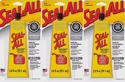 3 SEAL ALL 2oz Automotive Garage Contact Adhesive Sealant Glue CLEAR High Strgth