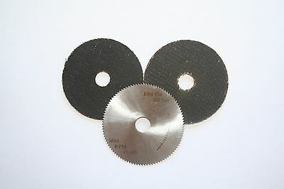 """Saw Blades, Wheel, Disk Assortment for 2"""" Mini Cut-off saw; steel and abrasive"""