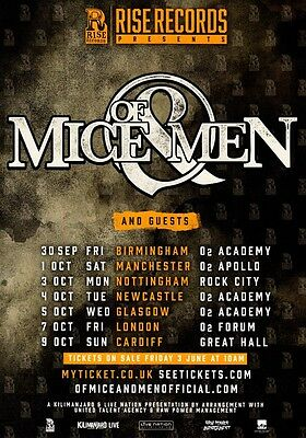 OF MICE & MEN September/October 2016 UK Tour PHOTO Print POSTER Austin Carlile 4