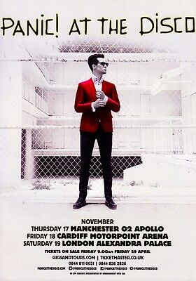 PANIC! AT THE DISCO Death of a Bachelor 2016 UK Tour PHOTO Print POSTER Shirt 12