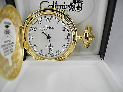 Colibri Goldtone White Face  Pocket Watch  New!