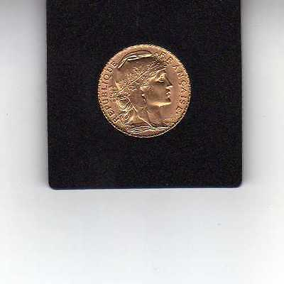 France 20 Francs Or Coq Marianne 1912 - Gold coin