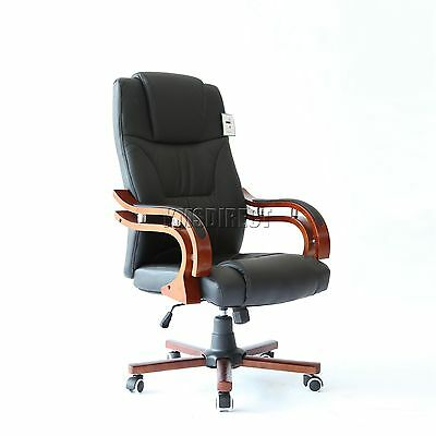 FoxHunter Computer Executive Office Chair PU Leather Swivel High Back OC05 Black