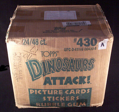 1988 Topps Dinosaurs Attack! Wax Case * 24 boxes *