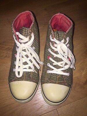 Joules Brown Textile Trainer Boots Size UK 3 *C1+