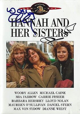 Woody Allen & Dianne Wiest signed Hannah And Her Sisters DVD - Brand New - Proof