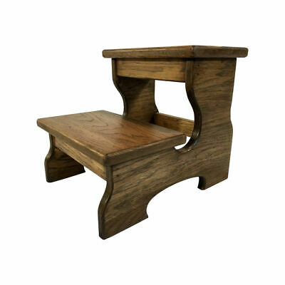 Two Step Stool, Wood Footstool, Choose Finish, by CW Furniture Custom Double