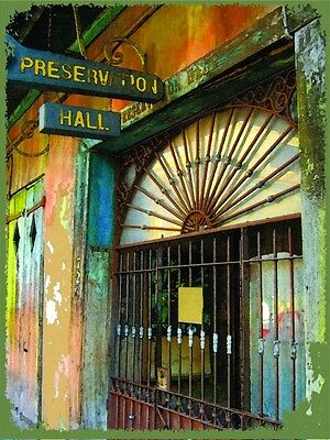 Preservation Hall Jazz Music New Orleans Louisiana Vacation Travel Metal Sign