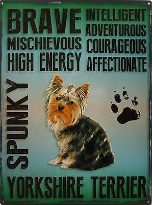 Yorkshire Terrier Pet Metal Sign